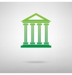 Historical building green icon vector