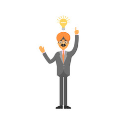 Indian businessman idea generation for startup vector