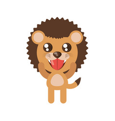 kawaii lion animal toy vector image