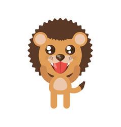 kawaii lion animal toy vector image vector image