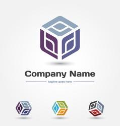 logo-cube vector image vector image