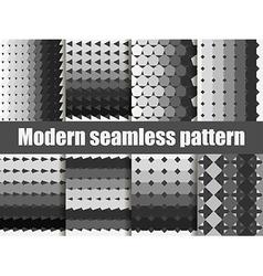 Modern seamless pattern set vector