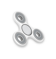 Realistic fidget spinner toy isolated vector