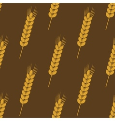 Seamless background pattern of ears of wheat vector image vector image
