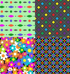 Seamless patterns Set 8 Abstract colorful vector image