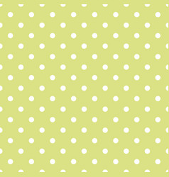Seamless spring pattern with white polka dots vector