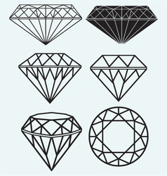 Set of diamond design elements vector image