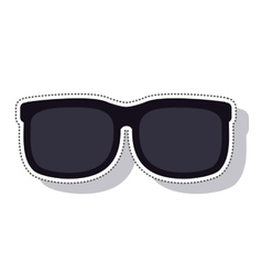 sunglasses black isolated icon vector image
