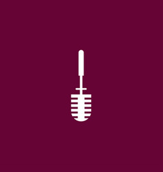 toilet brush icon simple vector image vector image