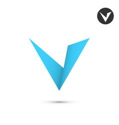 V letter icon vector