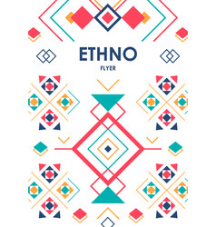vertical background with geometric ethnic ornament vector image vector image