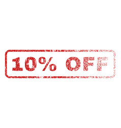 10 percent off rubber stamp vector image