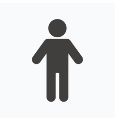 Man icon male human sign vector