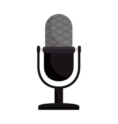 retro radio microphone vector image