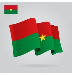 Burkina faso waving flag vector