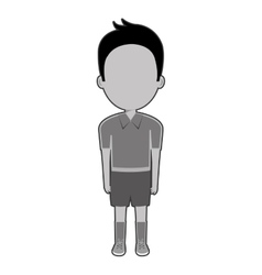 Boy student character isolated icon vector