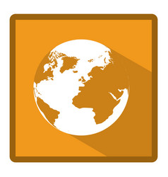 Emblem earth planet icon vector