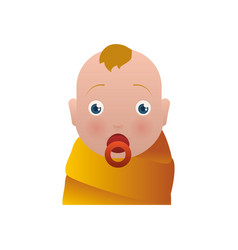 Baby newborn child blushed vector