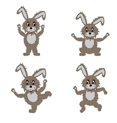 A funny hare doing morning exercises vector