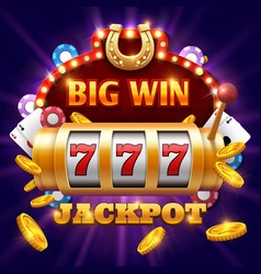 Big win 777 lottery casino concept with vector