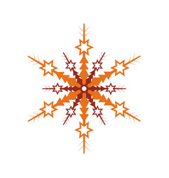 Winter snowflake isolated icon vector