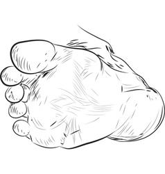 Foot drawing vector