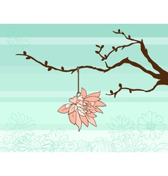 SpringTwigAndFlower vector image