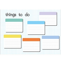 Things to do blank vector