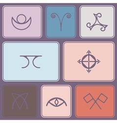 Seamless background with pagan symbols vector