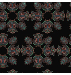 Pattern seamless floral on background vector