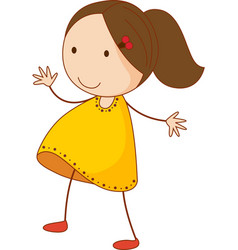 Simple child cartoon vector