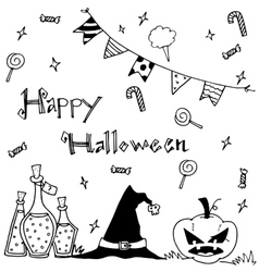 Cute hand-drawn halloween vector