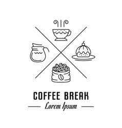 Logo coffee break vector