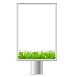 blank vertical billboard vector image vector image