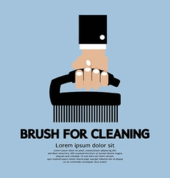 Brush For Cleaning vector image vector image