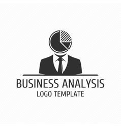 Business analysis logo template vector image