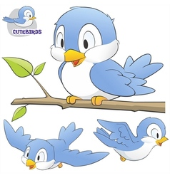 Cartoon birds vector