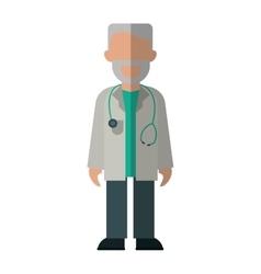 character doctor beard stethoscope health vector image