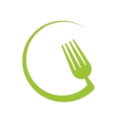 Circle fork healthy food icon graphic vector