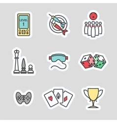 Colorful game stickers vector image vector image
