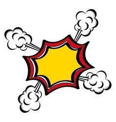 Comic speech bubble icon image vector