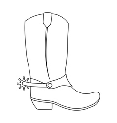 Cowboy boots icon in outline style isolated on vector