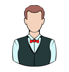Croupier icon icon cartoon vector