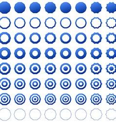 Decagon shape icon template set vector