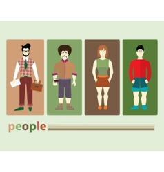 different people vector image