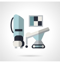 Flat style icon for MRI vector image