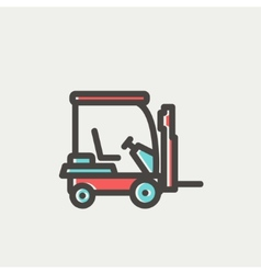 Golf cart thin line icon vector image