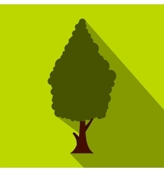 Green cypress icon flat style vector
