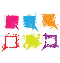 grunge speech bubbles vector image vector image