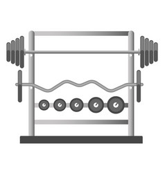 Gym or fitness sport club chest press barbell vector